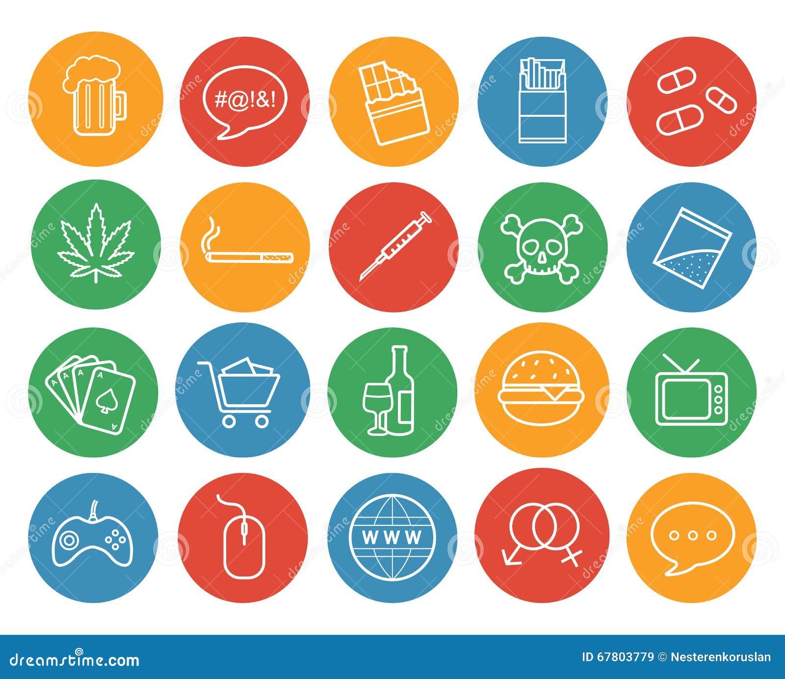 Uppsättning för symboler för oskickfärg linjär