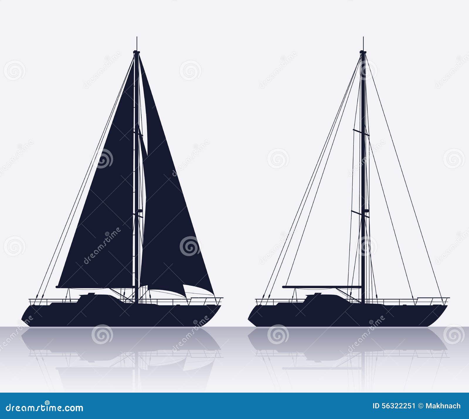 Uppsättningen av lyx seglar konturn