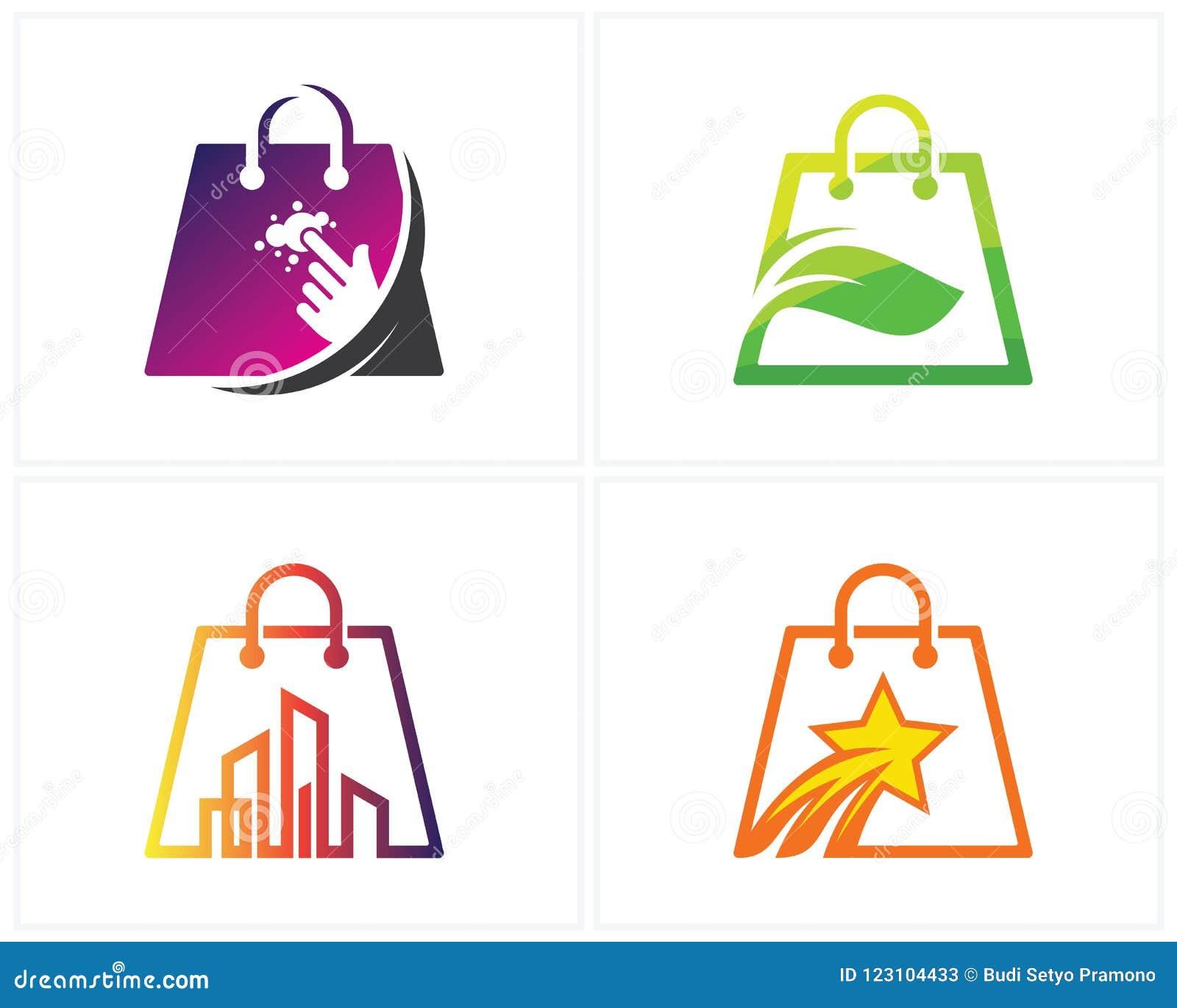 Uppsättningen av Shop logoen planlägger mallen