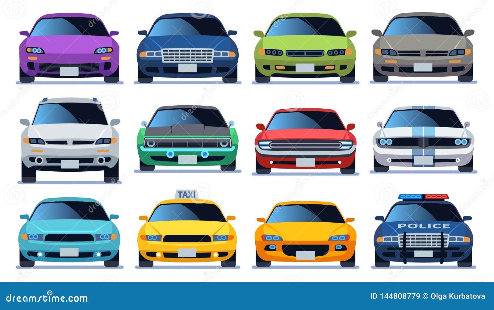 Upps?ttning f?r fr?mre sikt f?r bil Stads- bilar f?r modell f?r medel f?r stadstrafik Snabb automatisktrafik f?r polisen som och