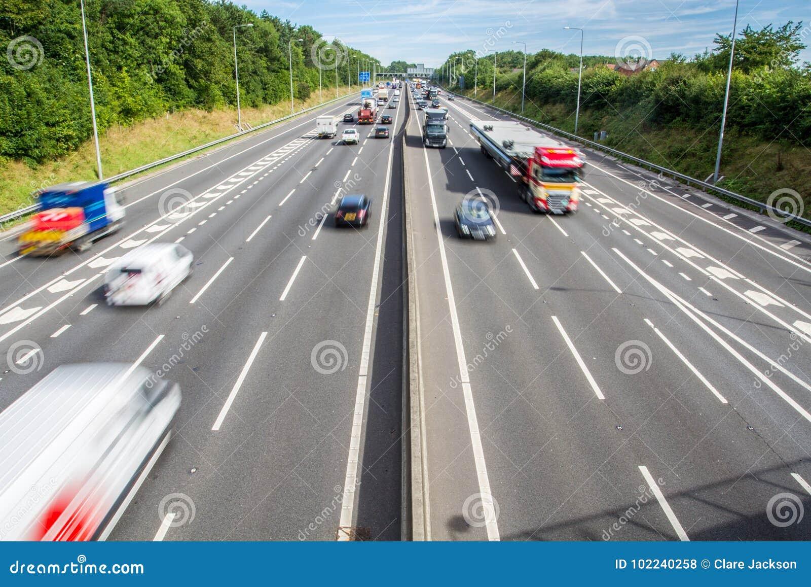Upptagen UK-Motorway