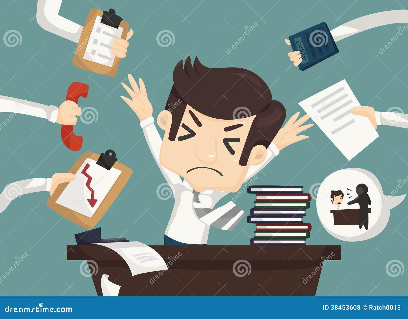 Upptaget affärsmanarbete som är hårt och