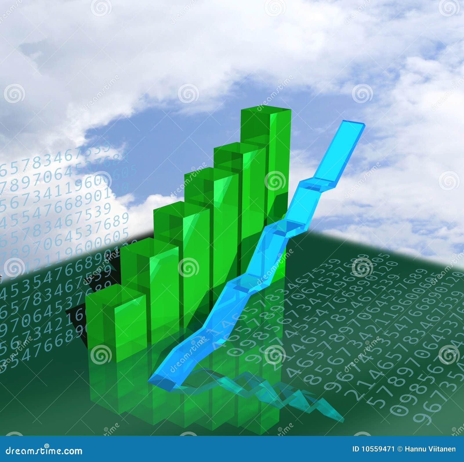 Uppvisning för tillväxt för affärsdiagram