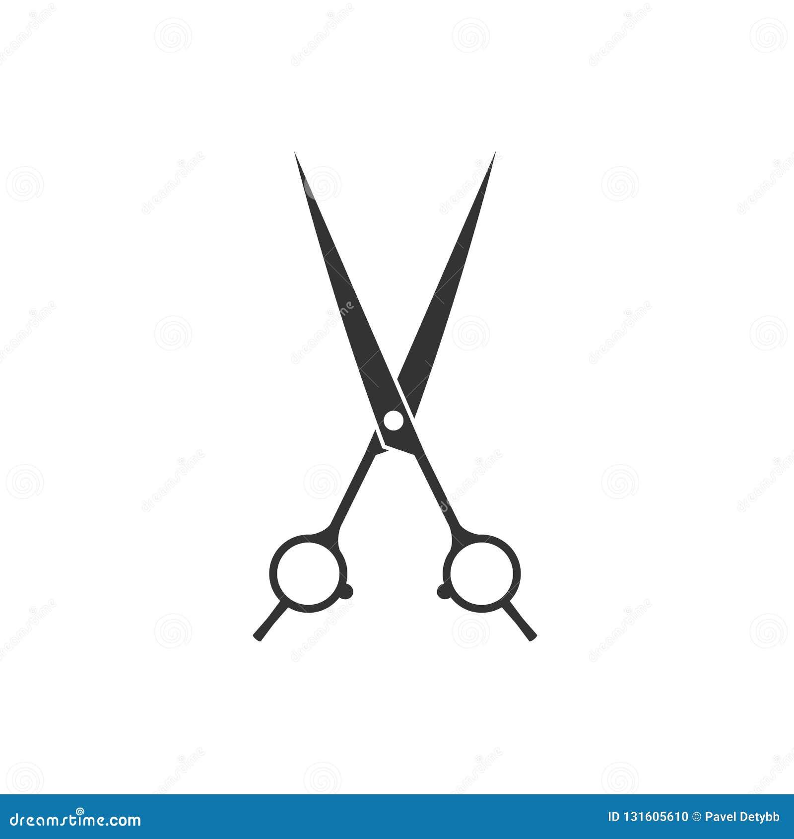 Uprawa, rżnięta tnąca nożyce ikona Wektorowy illustartion, płaski projekt