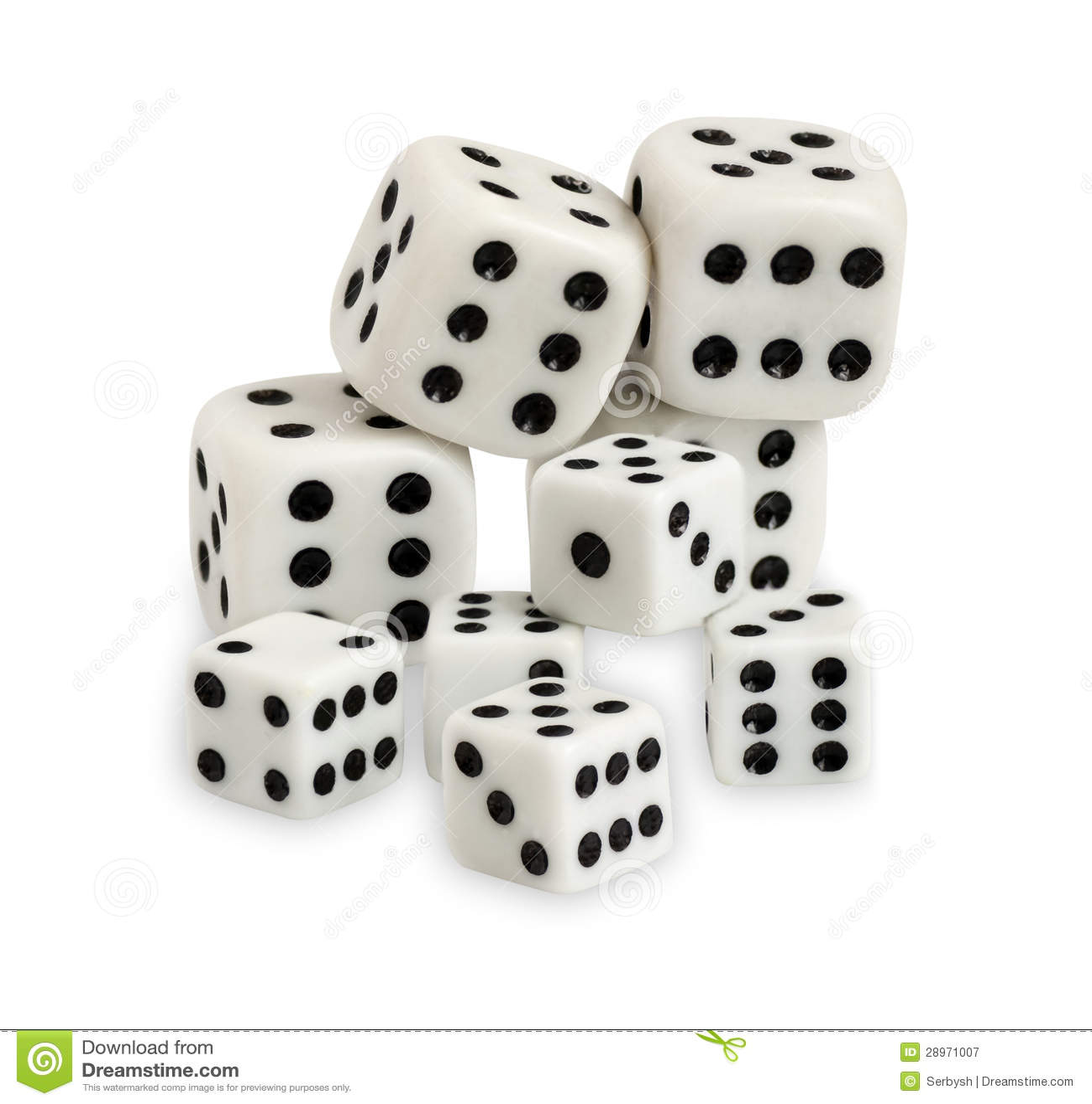 Uprawiać hazard dices odosobnionego na białym tle
