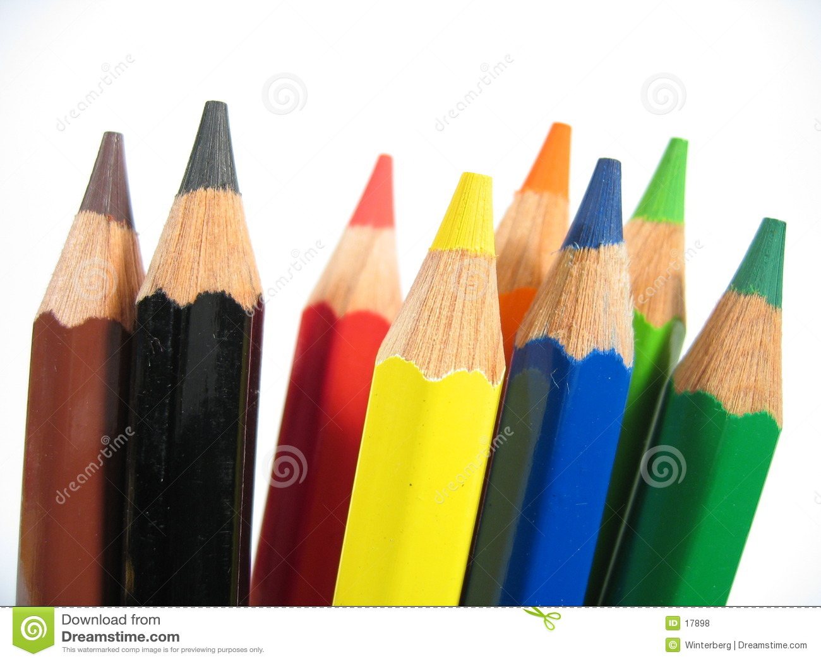 Upright crayons i