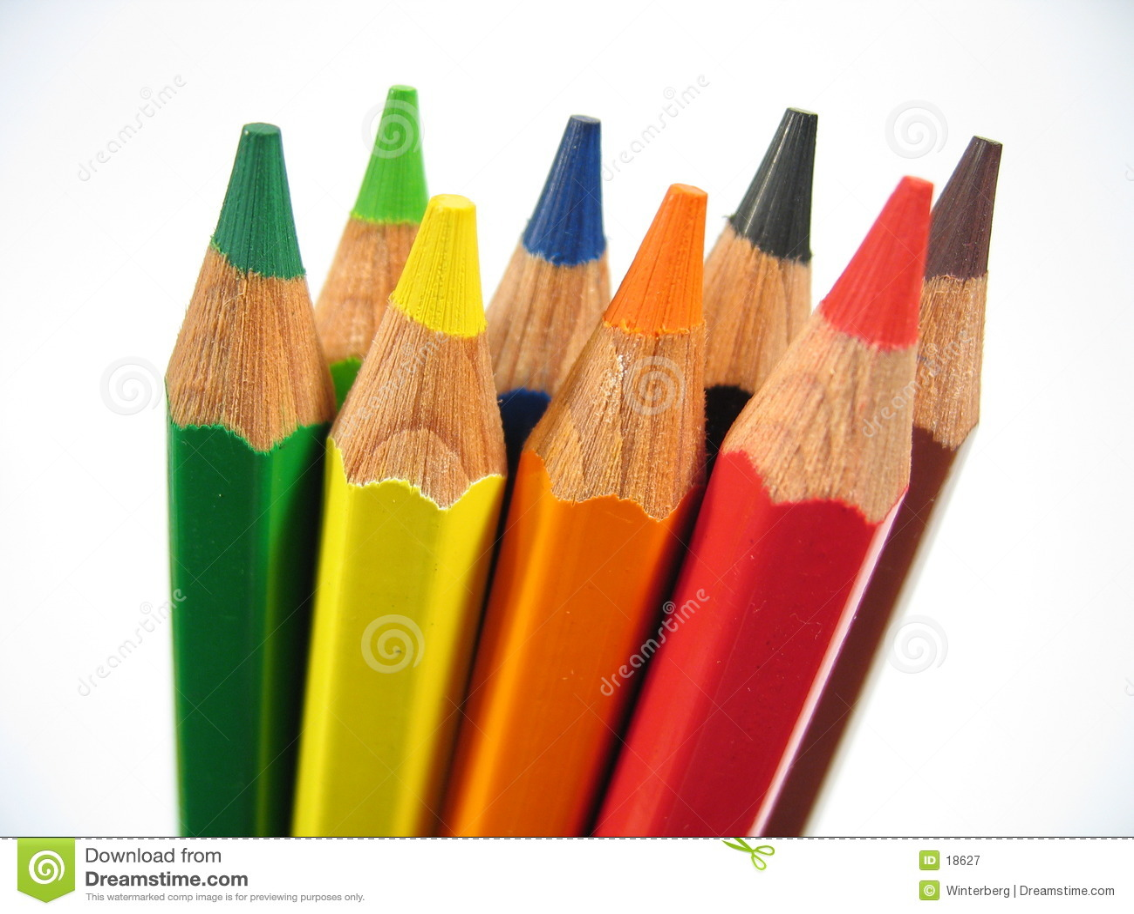 Upright crayons ii