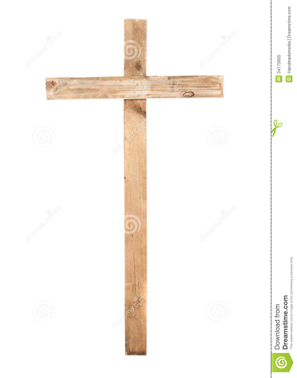 Upright Wooden Cross Stock Image Image Of Church Lent