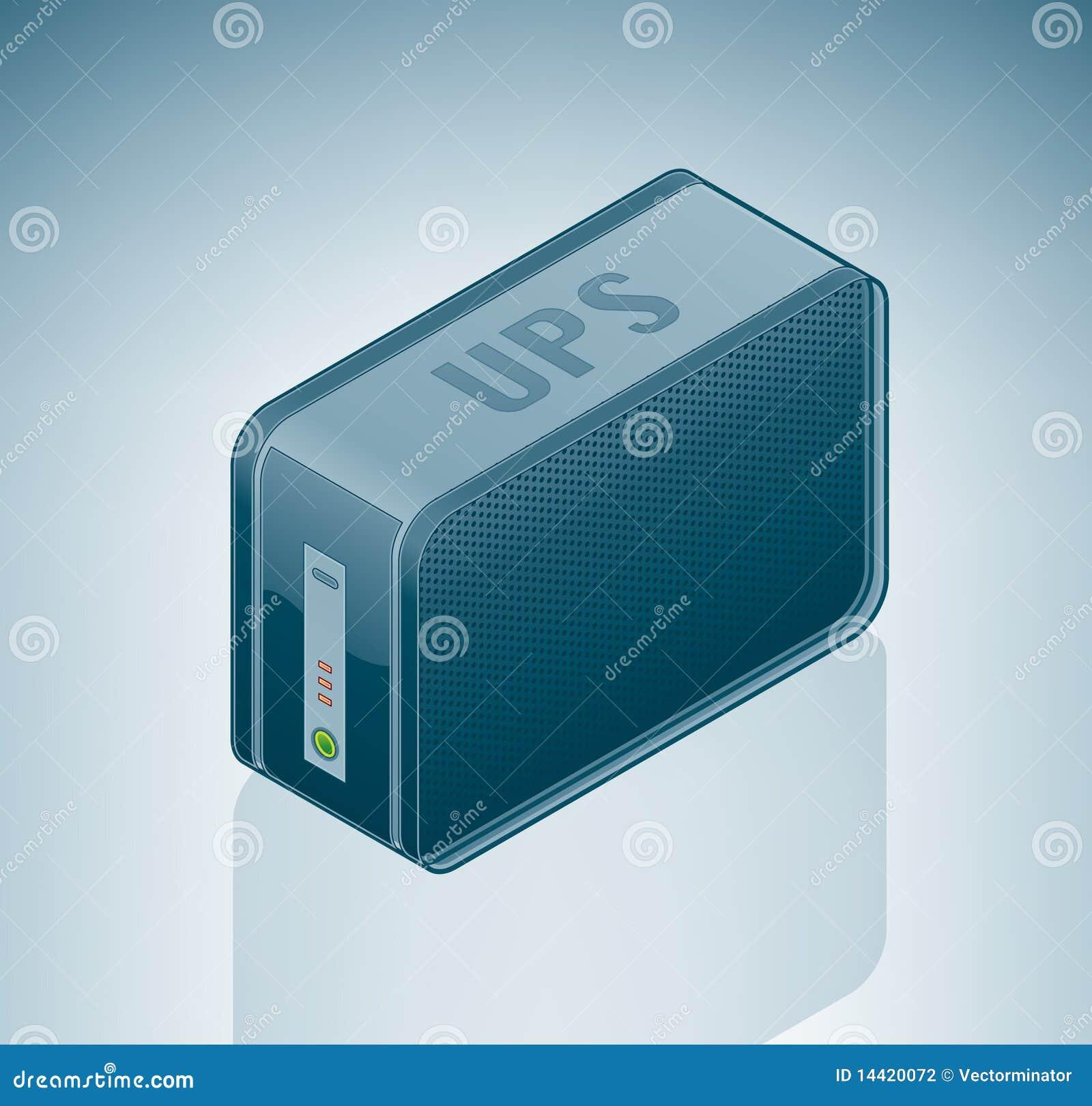 Ups Uninterruptible Power Supply Stock Vector Illustration Of