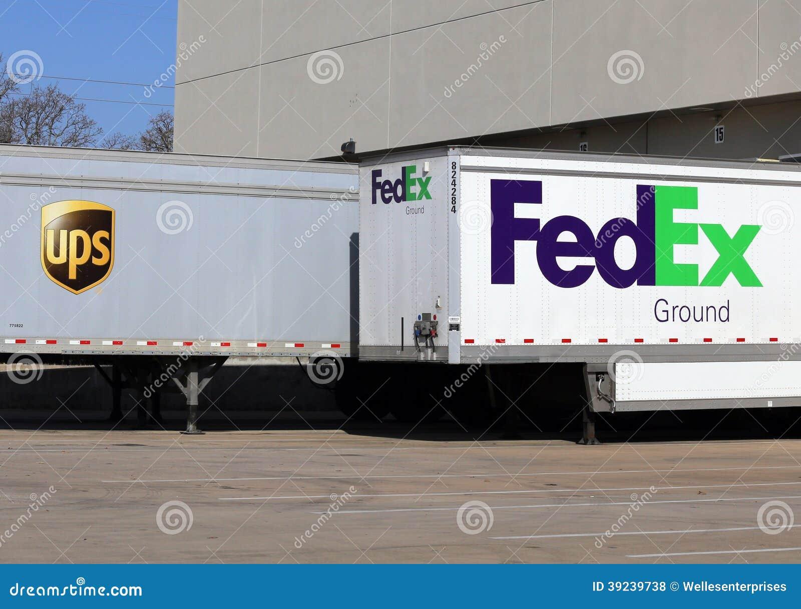 UPS Vs Fedex Editorial Stock Photo - Image: 39239738