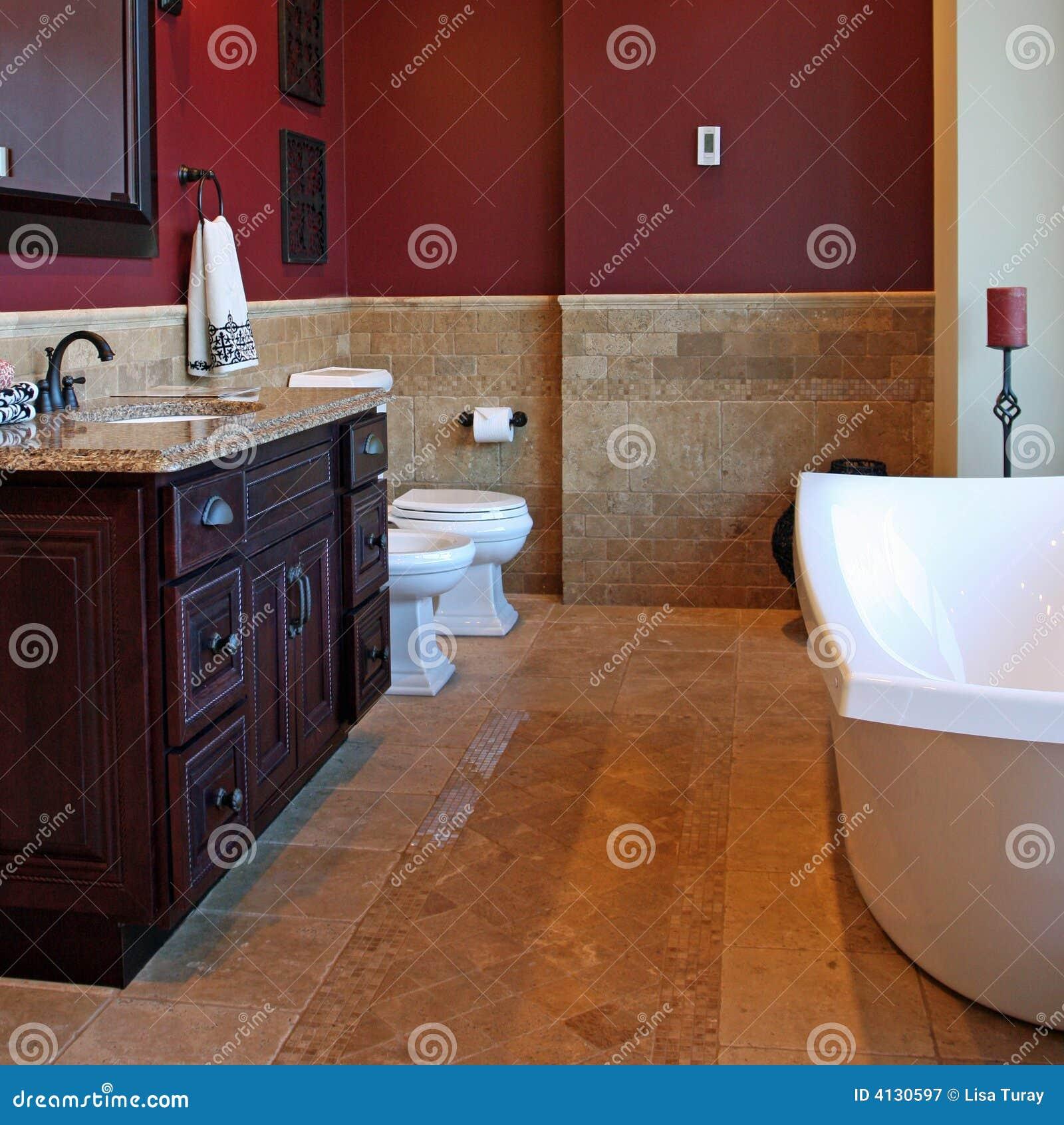 Upscale Bathroom Stock Image. Image Of Decor, Painted