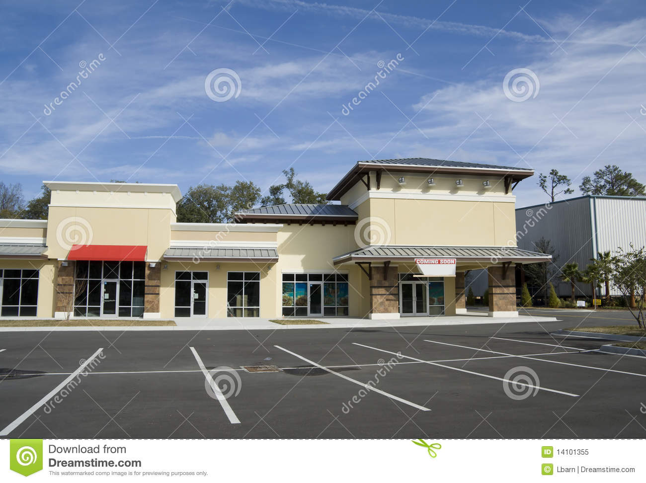 Very much design a strip mall