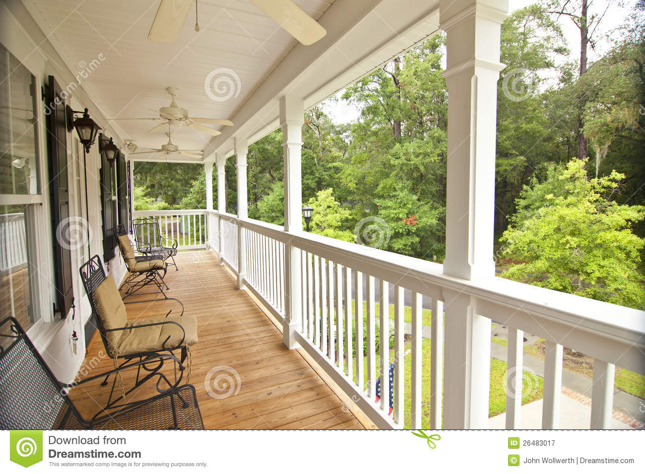 Upscale Front Porch Royalty Free Stock graphy Image