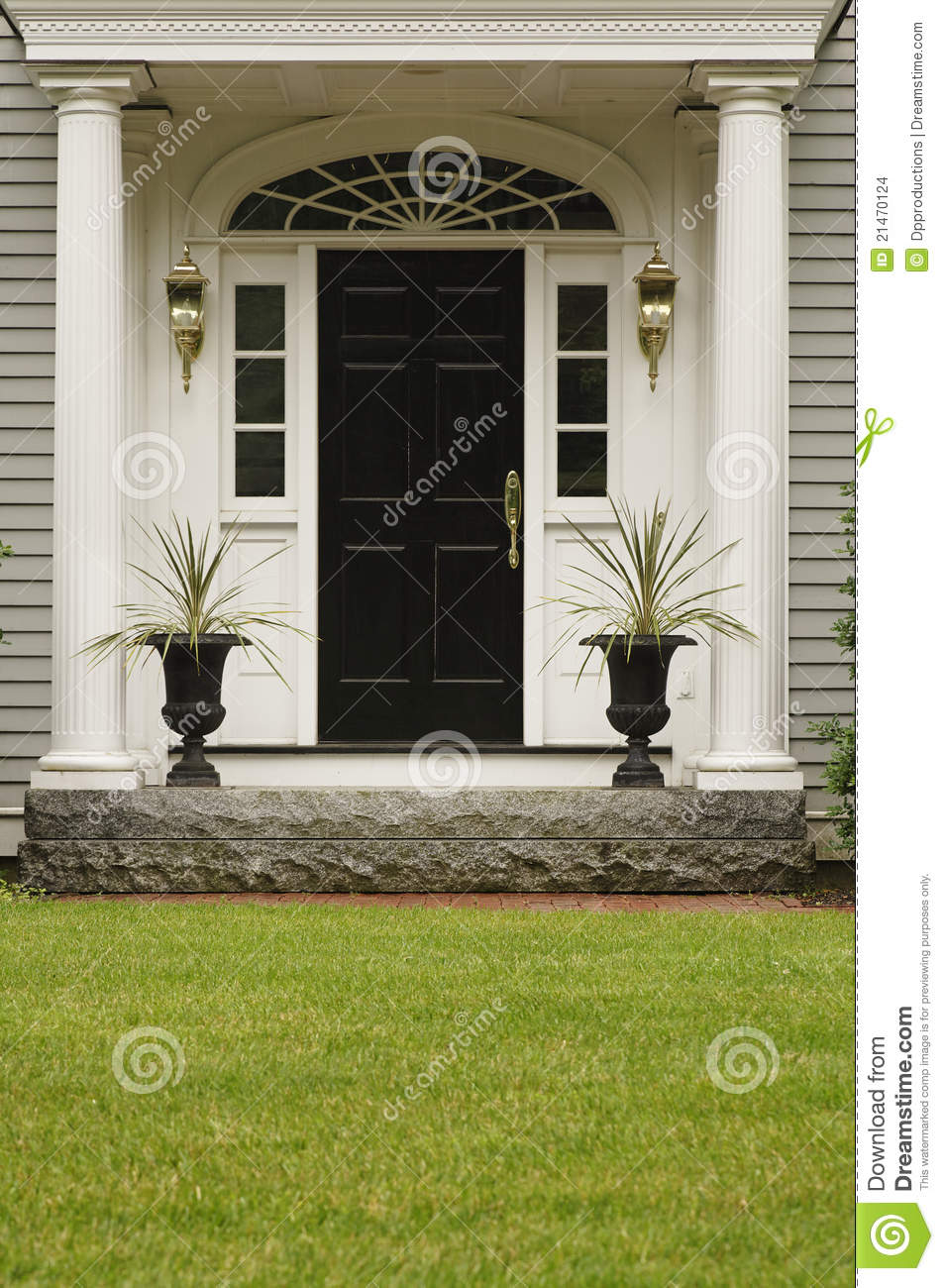 Upscale Home Front Entrance