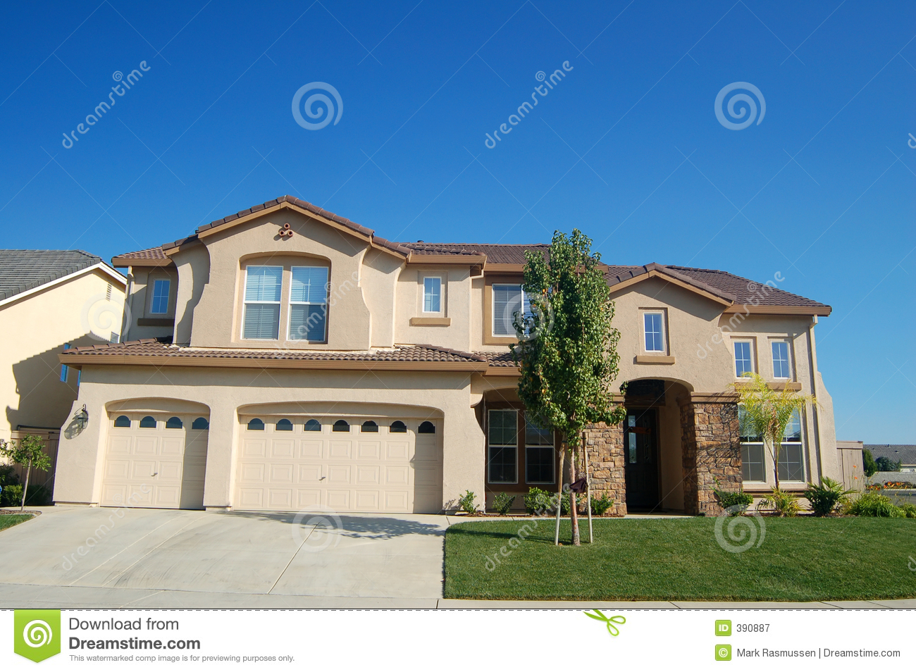 Royalty Free Stock Photo  Download Upscale House In California. Upscale House In California Royalty Free Stock Photography   Image