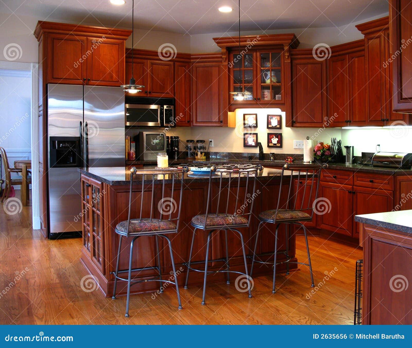 Upscale Kitchen Cabinets: Upscale Kitchen Horizontal Royalty Free Stock Image