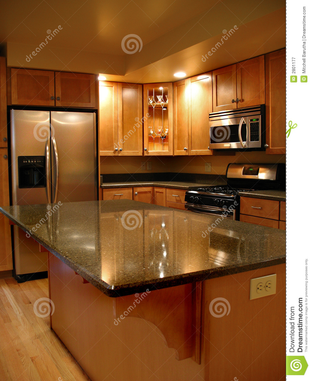 Upscale Kitchen Vertical Stock Image Image Of Counter
