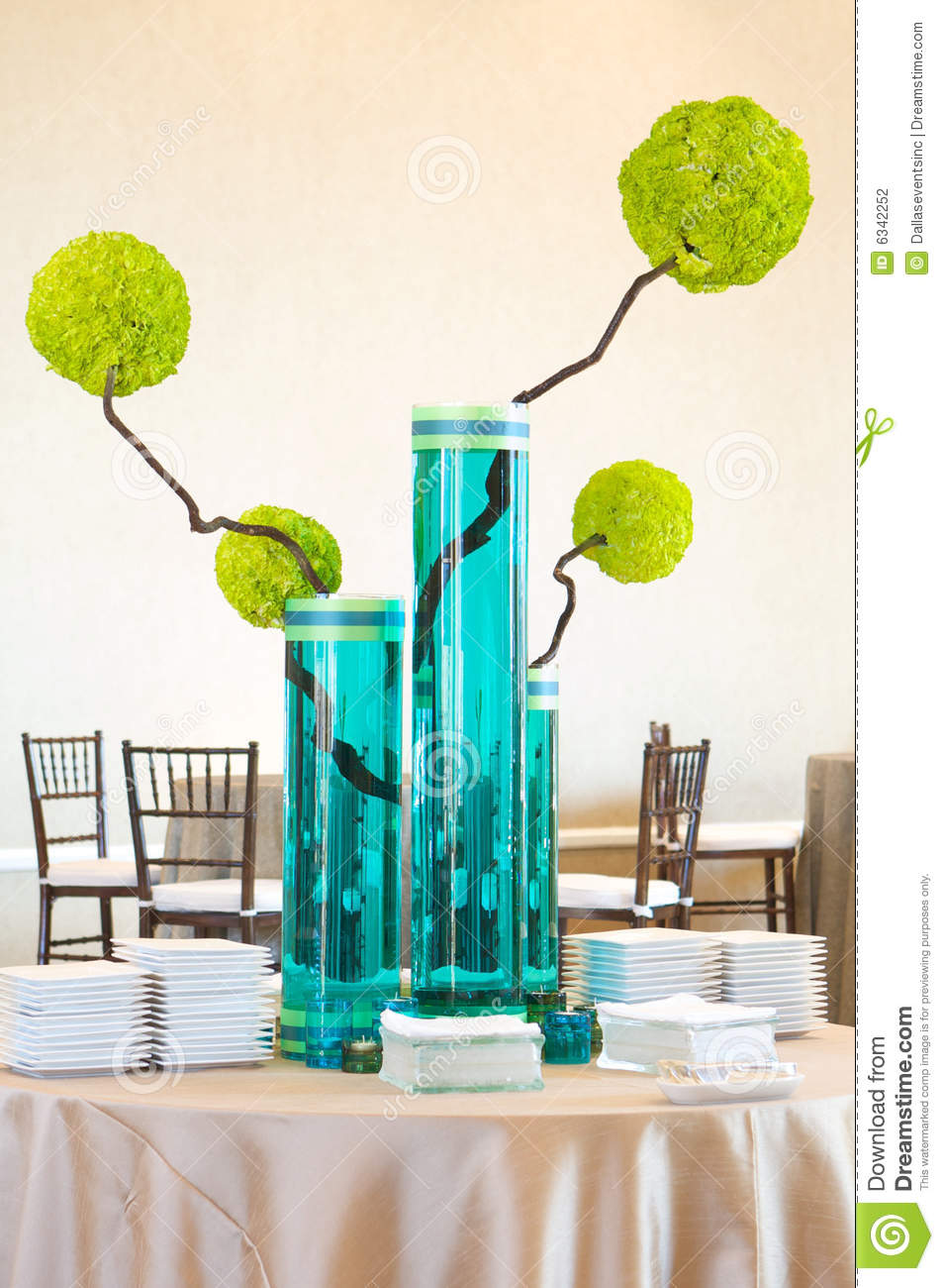 Upscale modern table centerpiece stock photography image for Modern centerpieces for tables