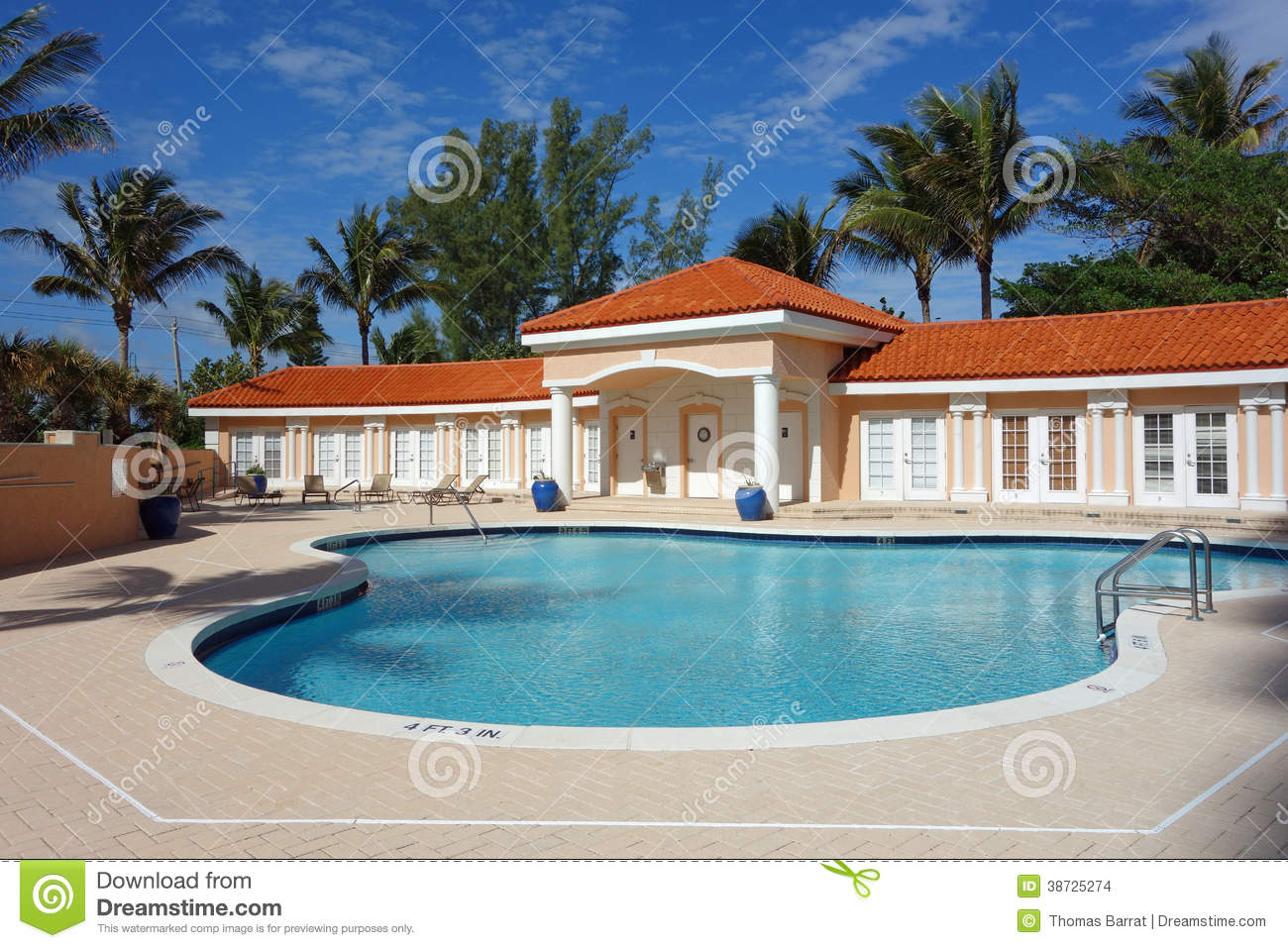 Upscale pool and cabana stock images image 38725274 for Swimming pool cabanas