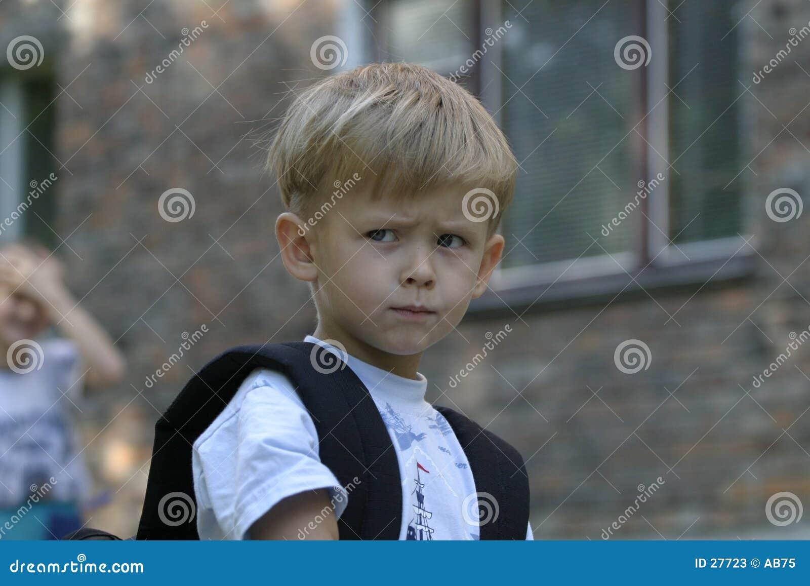 An upset Boy