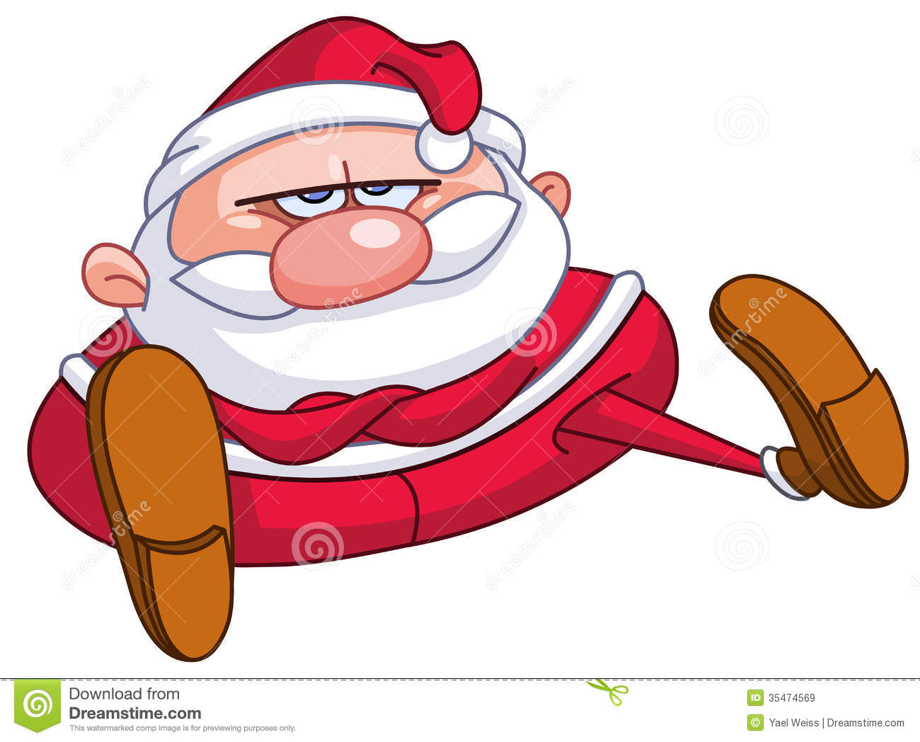 upset santa royalty free stock images image 35474569