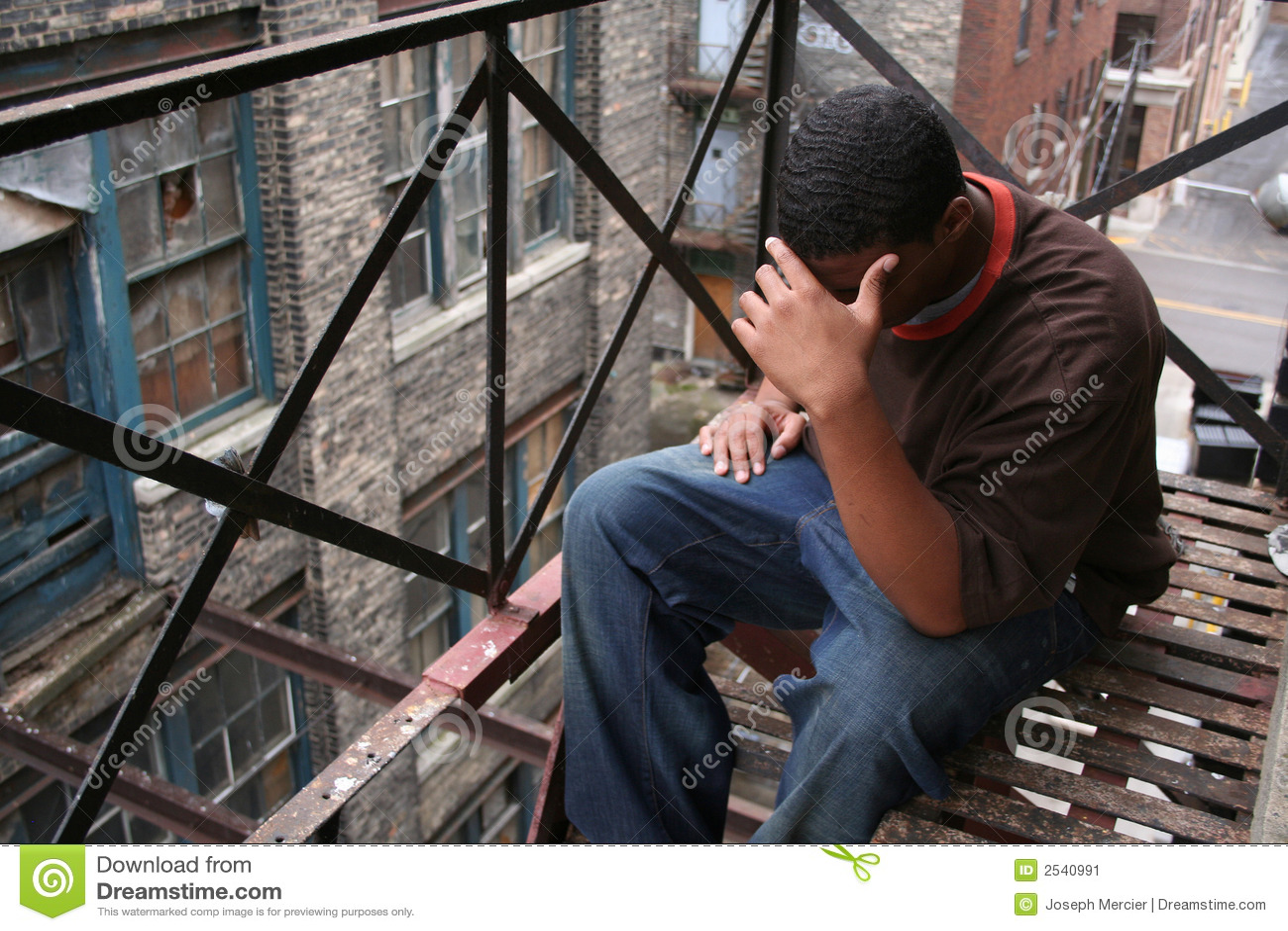 Upset Urban Teen Male