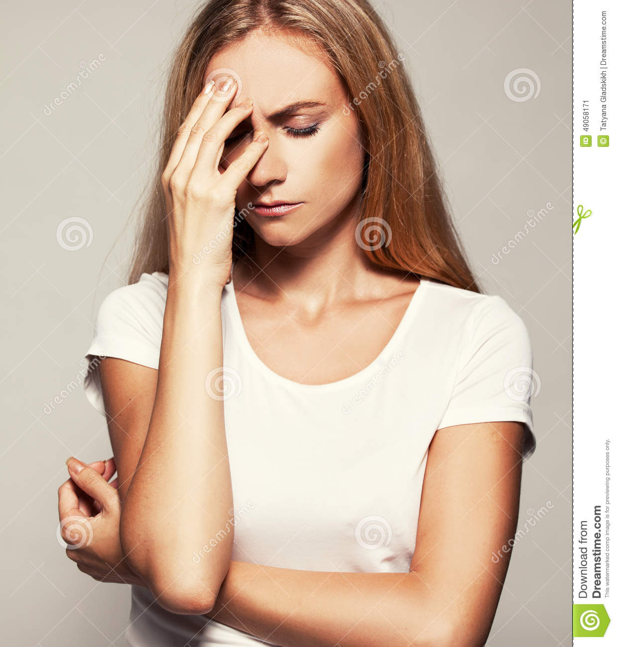 Upset Woman Stock Photo