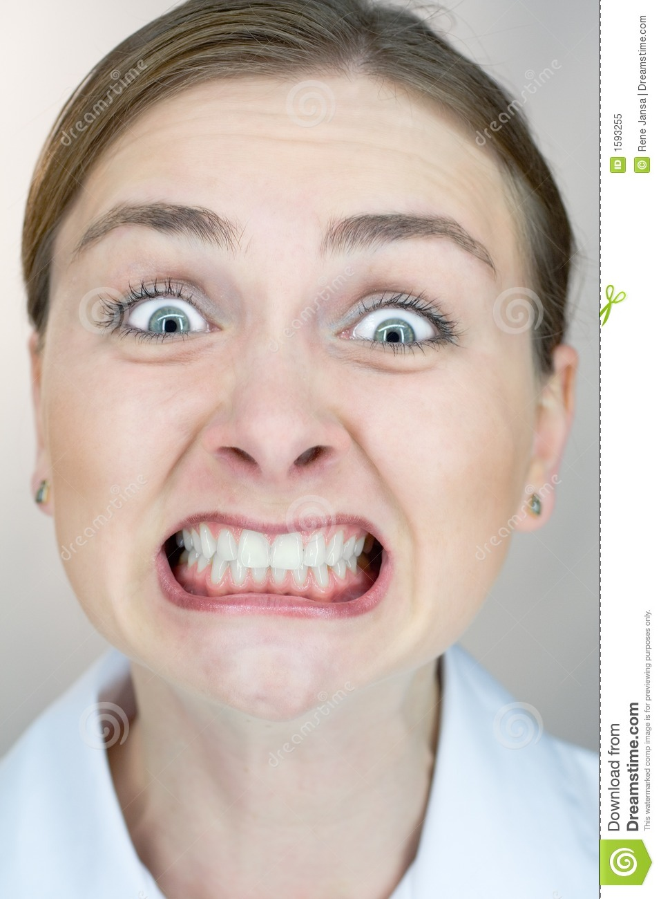 Uptight Expression Closeup Royalty Free Stock Photo ...