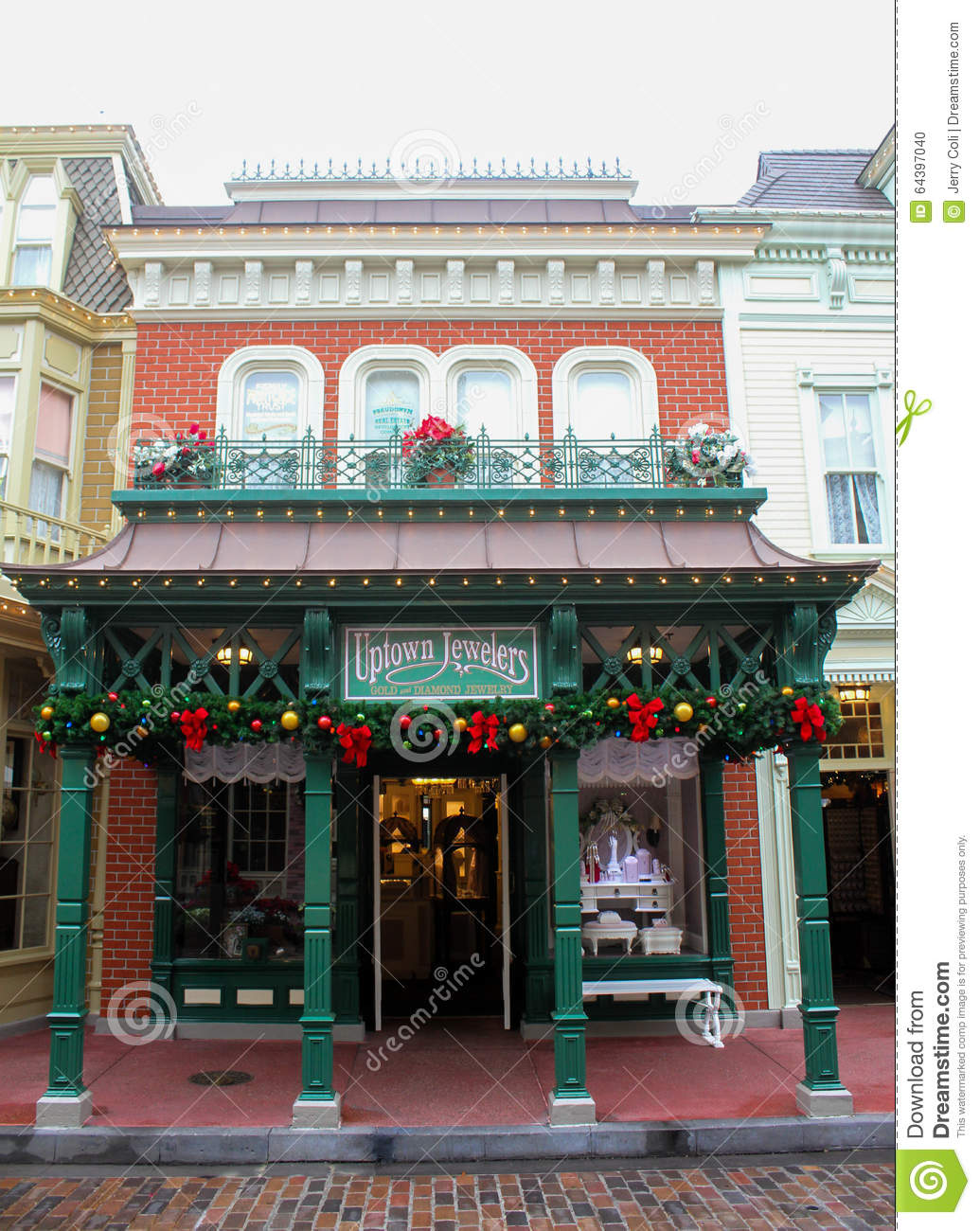 Uptown jewelers magic kingdom wdw editorial image image of uptown jewelers inside the magic kingdom is decorated for the christmas holidays publicscrutiny Image collections