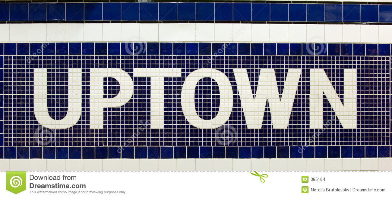 Uptown Sign Stock Images