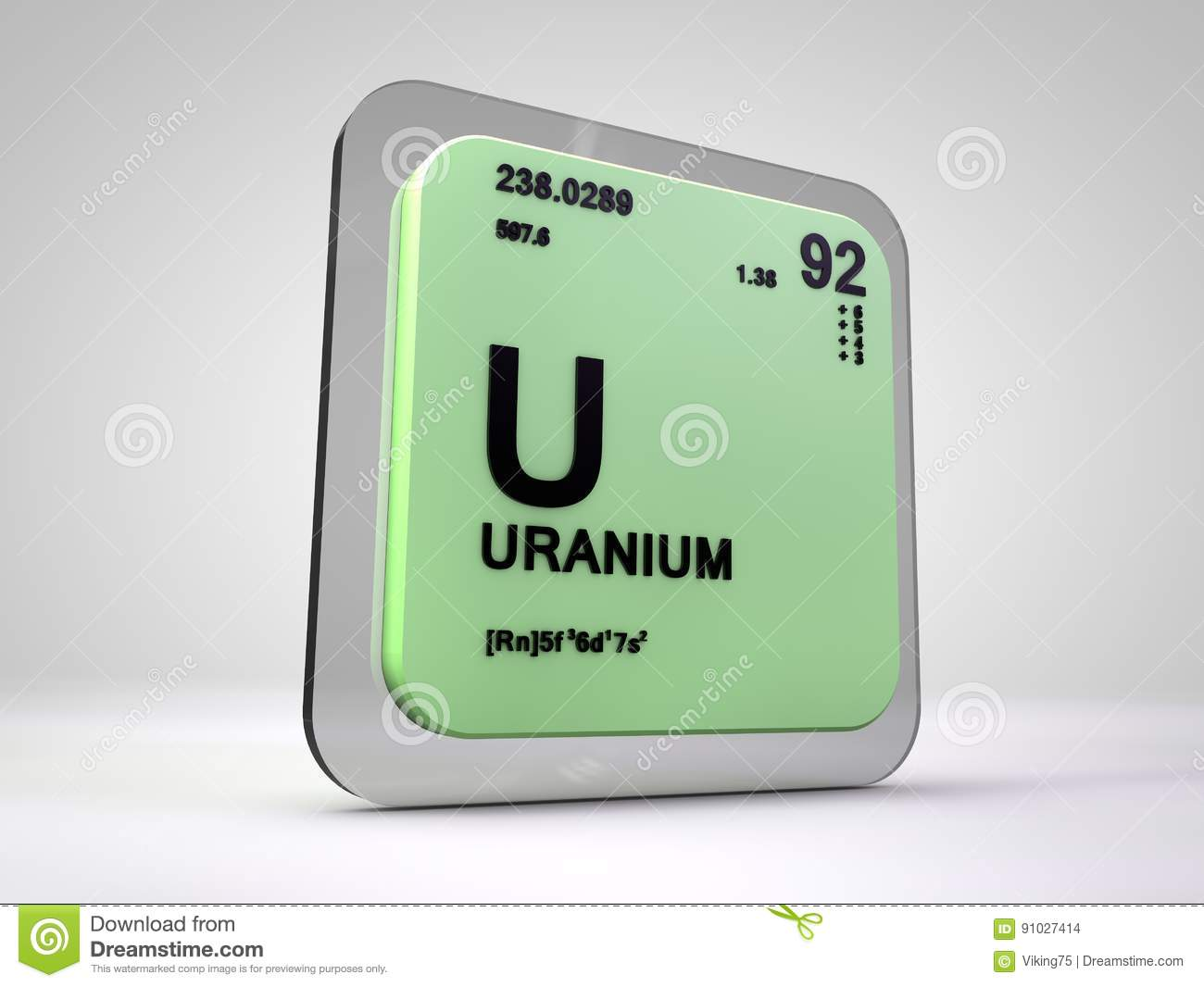 Uranium u chemical element periodic table stock illustration uranium u chemical element periodic table gamestrikefo Image collections