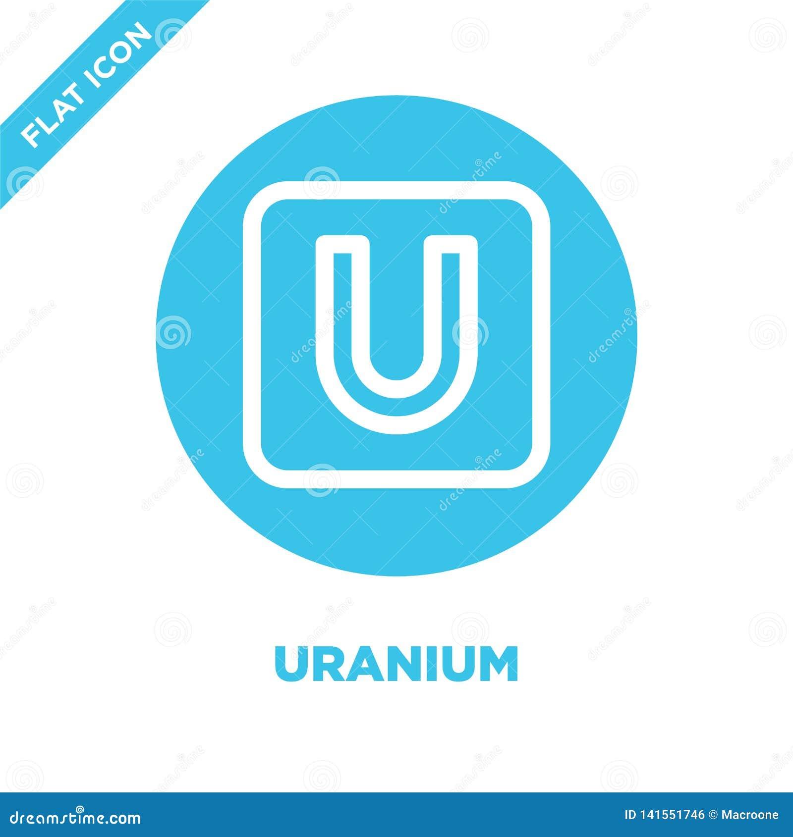 Uransymbolsvektor Tunn linje illustration för vektor för uranöversiktssymbol uransymbol för bruk på rengöringsduken och mobila ap