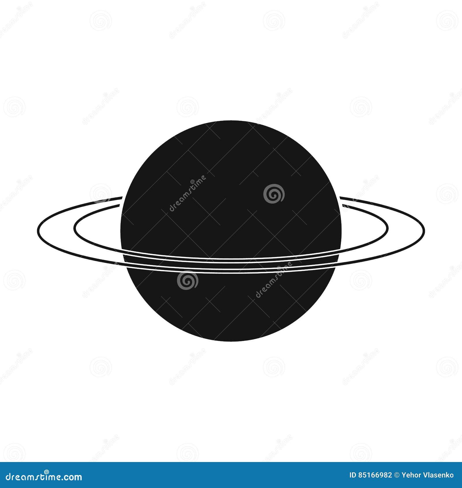Uranus icon in black style isolated on white background planets uranus icon in black style isolated on white background planets symbol stock vector illustration buycottarizona