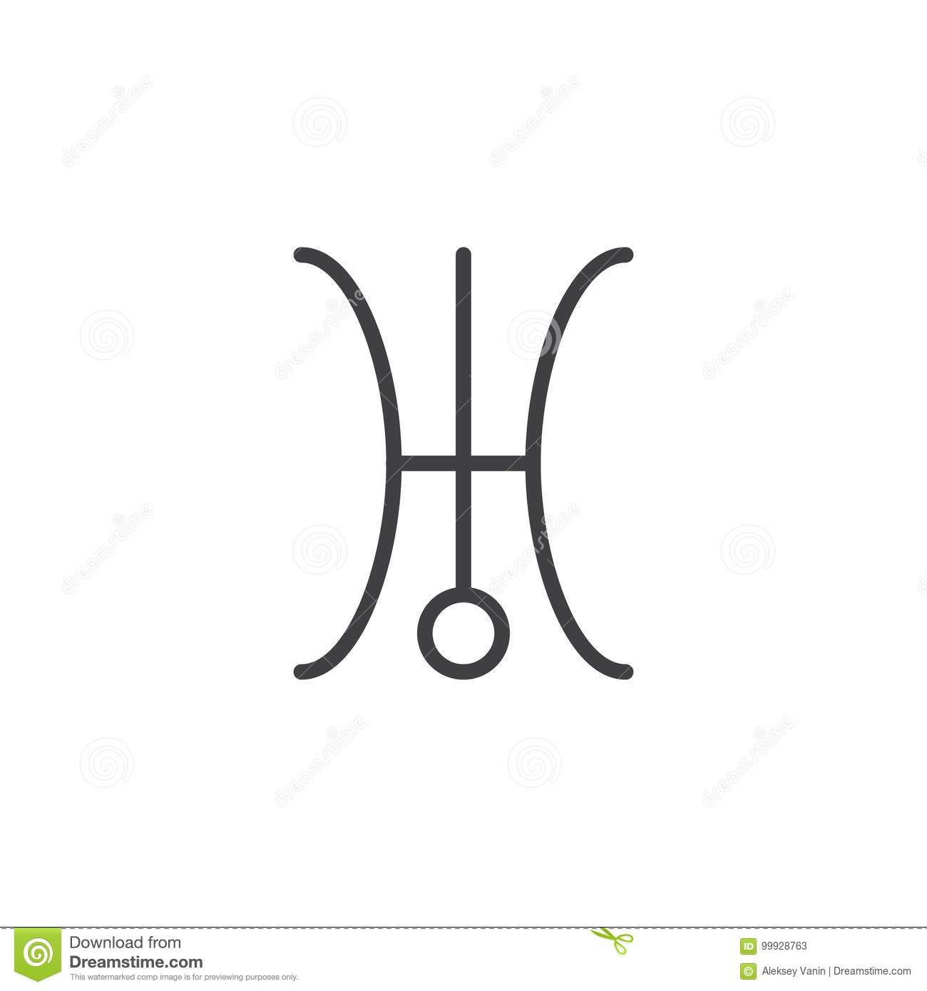 Uranus symbol line icon stock vector illustration of uranus 99928763 uranus symbol line icon biocorpaavc Gallery