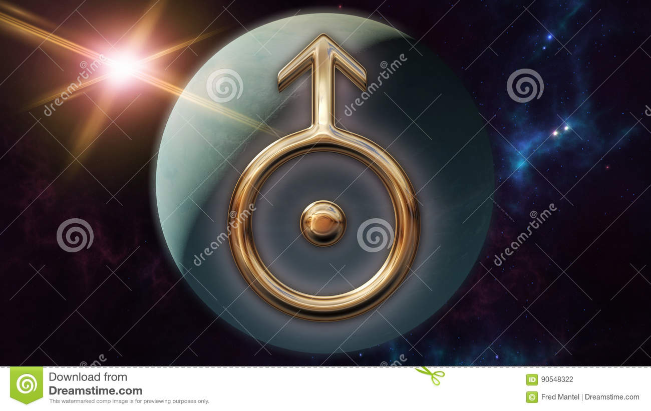 Uranus zodiac horoscope symbol and planet 3d rendering stock uranus zodiac horoscope symbol and planet 3d rendering biocorpaavc Gallery