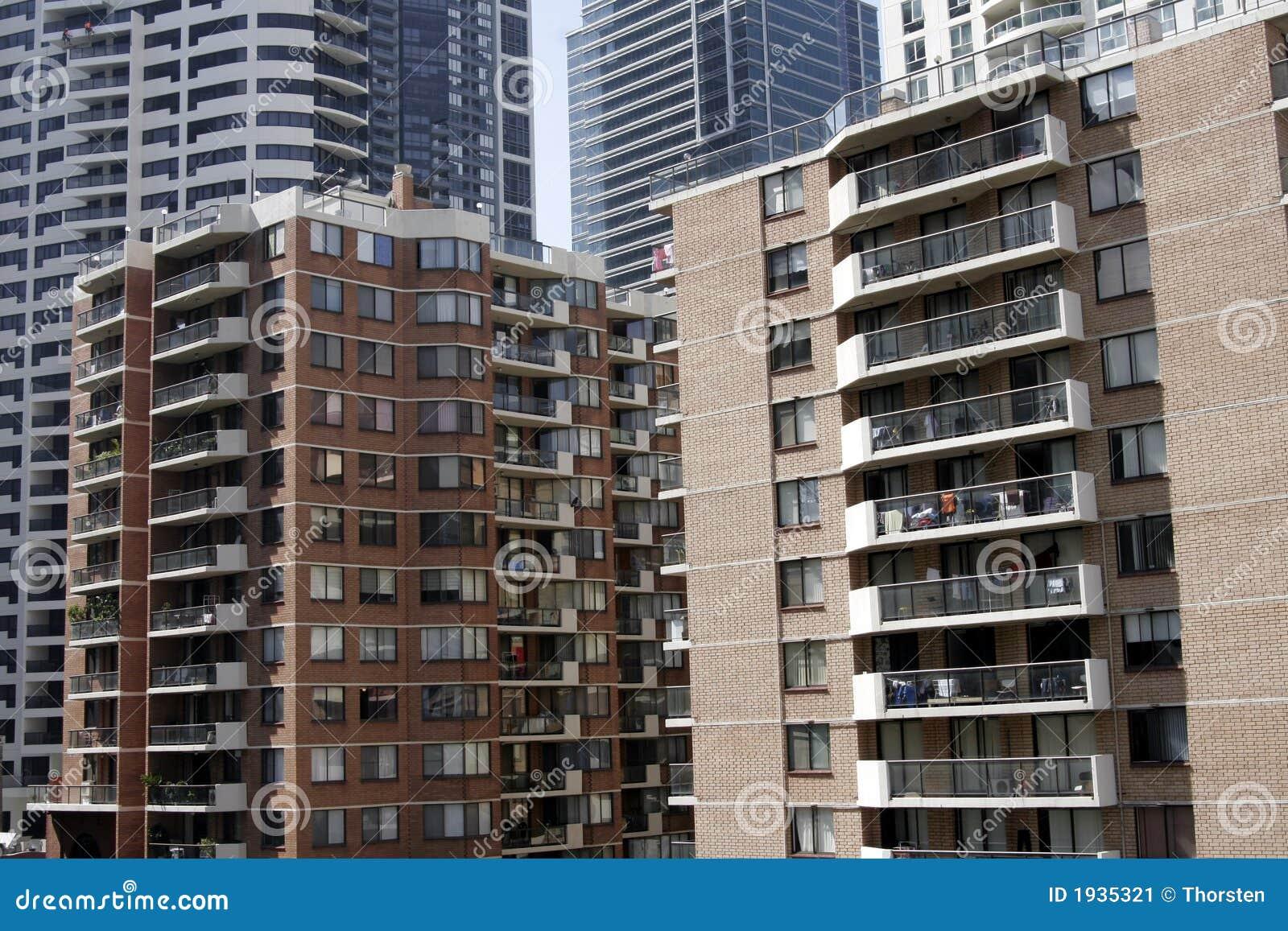 Urban Apartment Building Stock Image - Image: 1935321