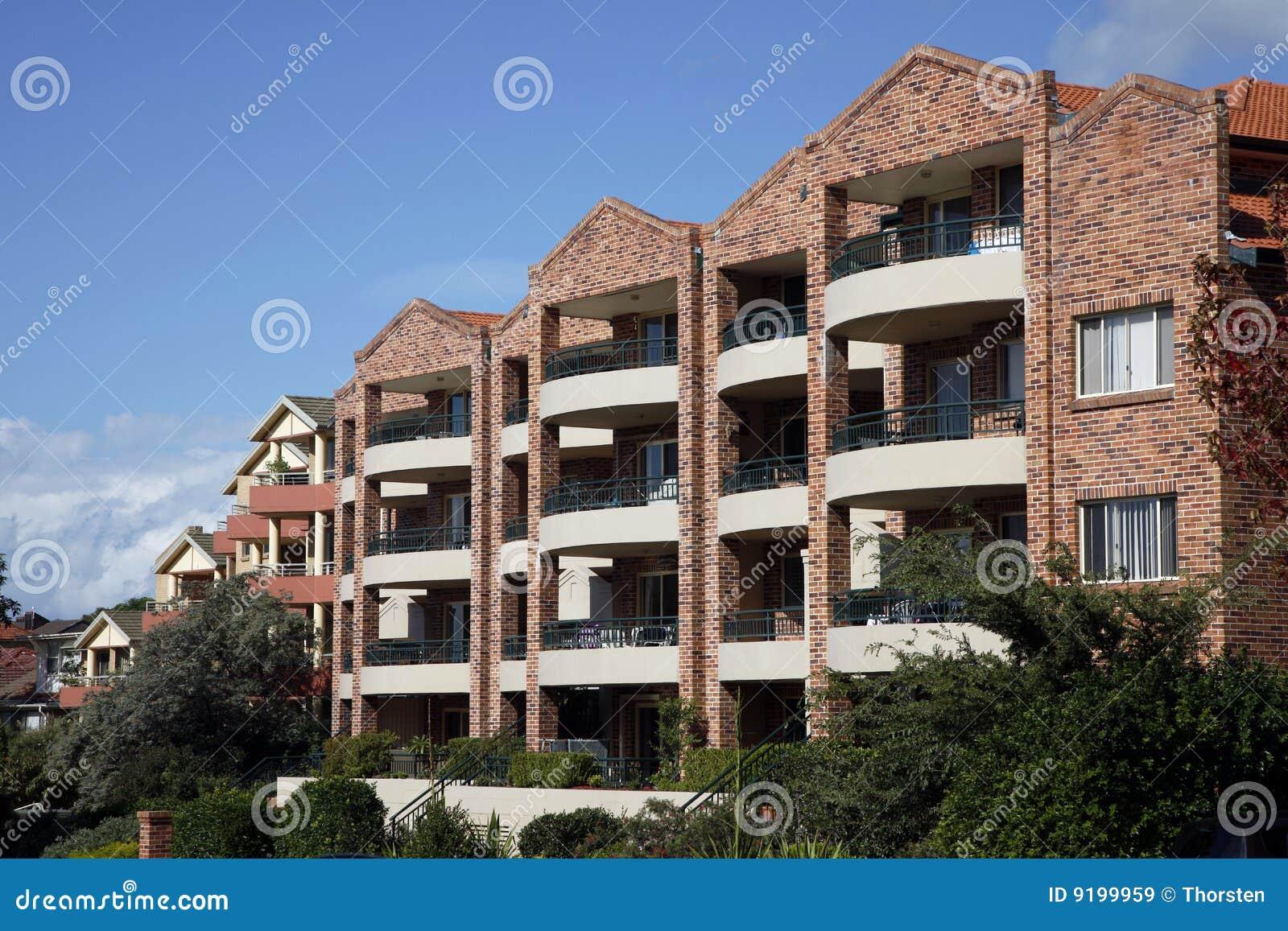 Urban Apartment Building, Sydney, Australia Stock Image ...