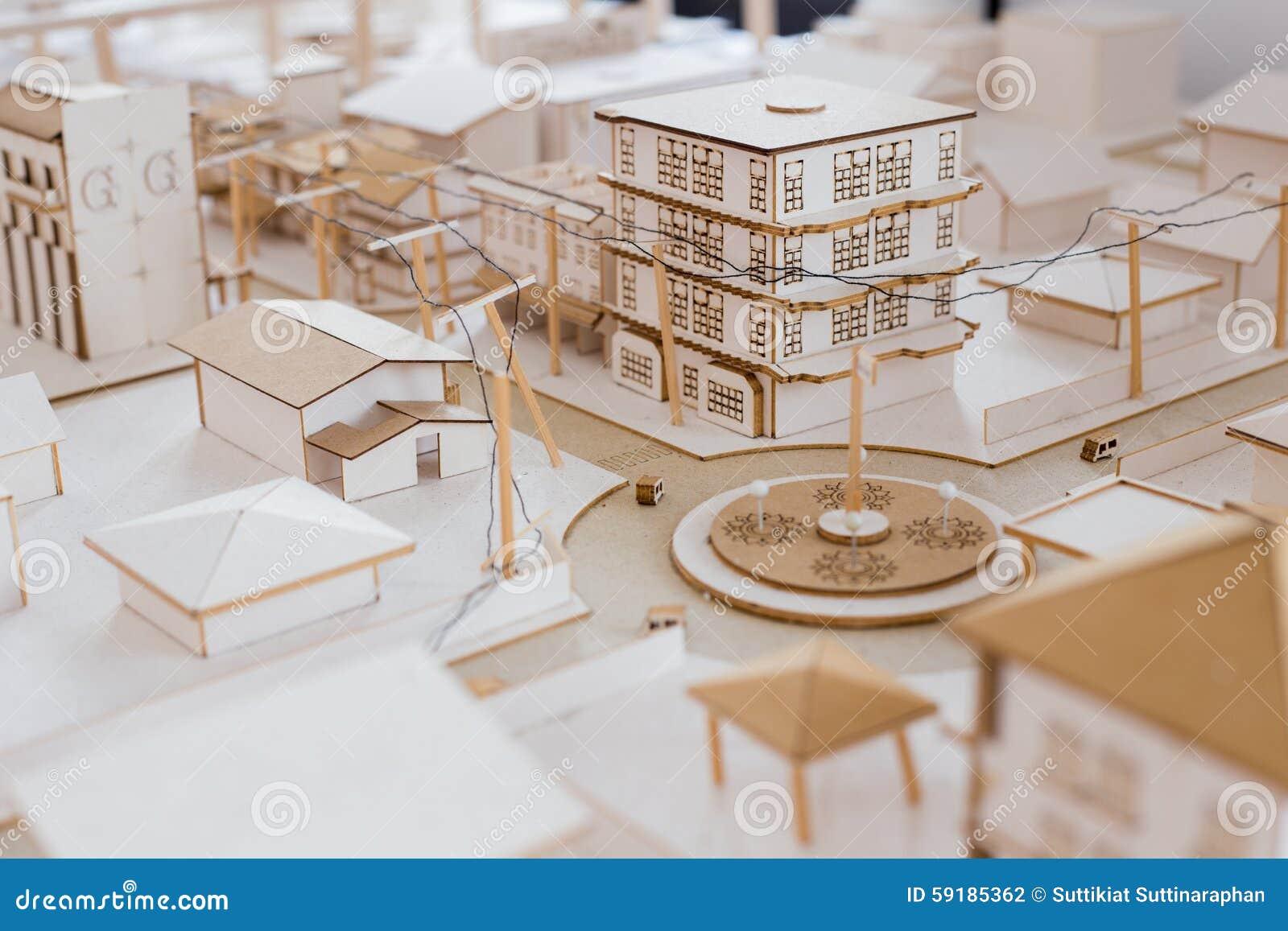Urban Architecure model stock photo  Image of houses - 59185362
