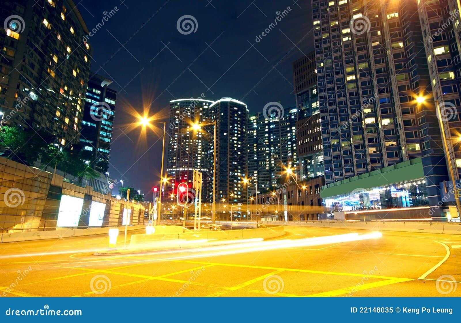 Urban Area At Night Urban Area At N...