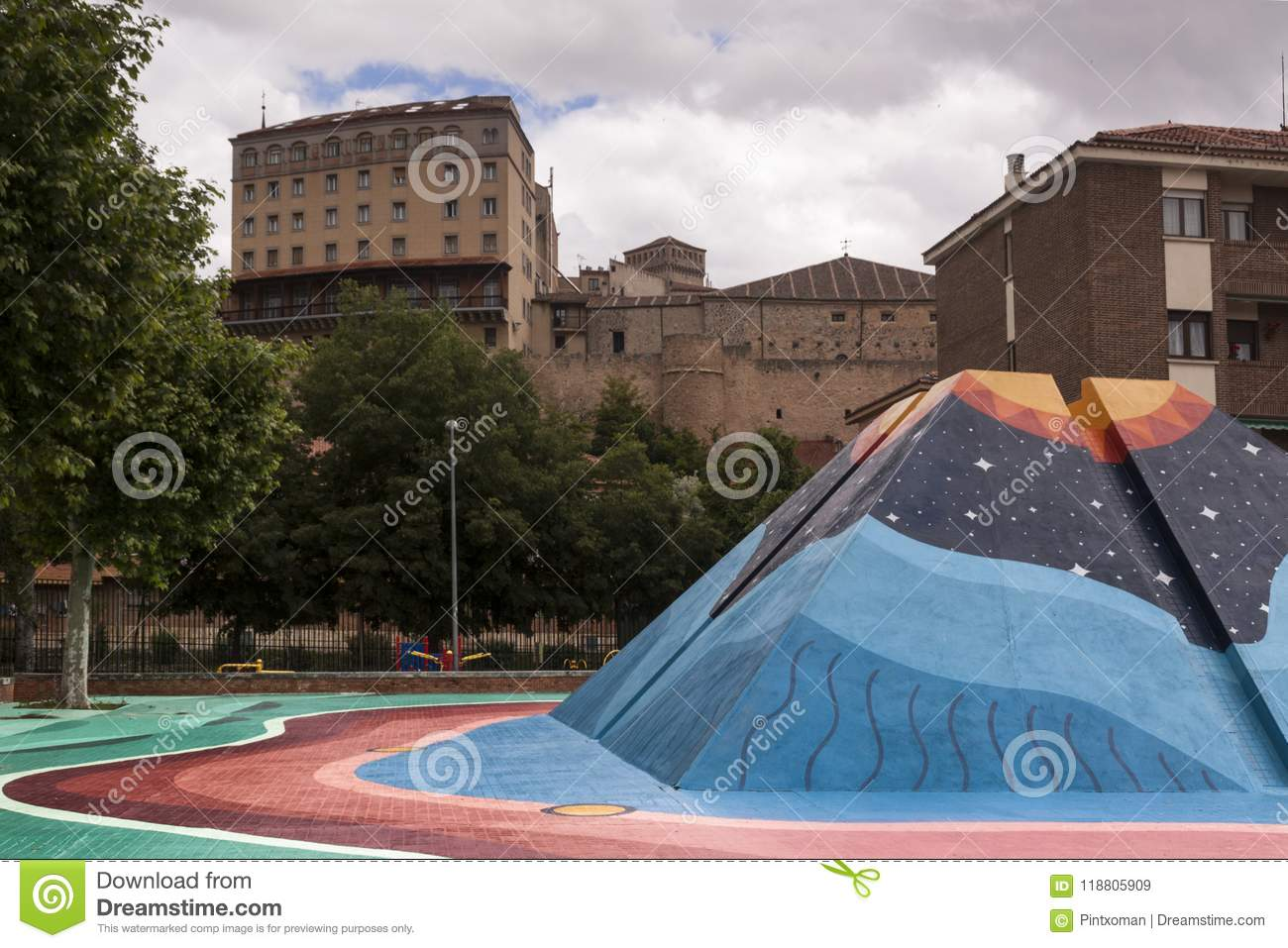 Urban art in the center of the city. Conceptual art. Lifestyle.