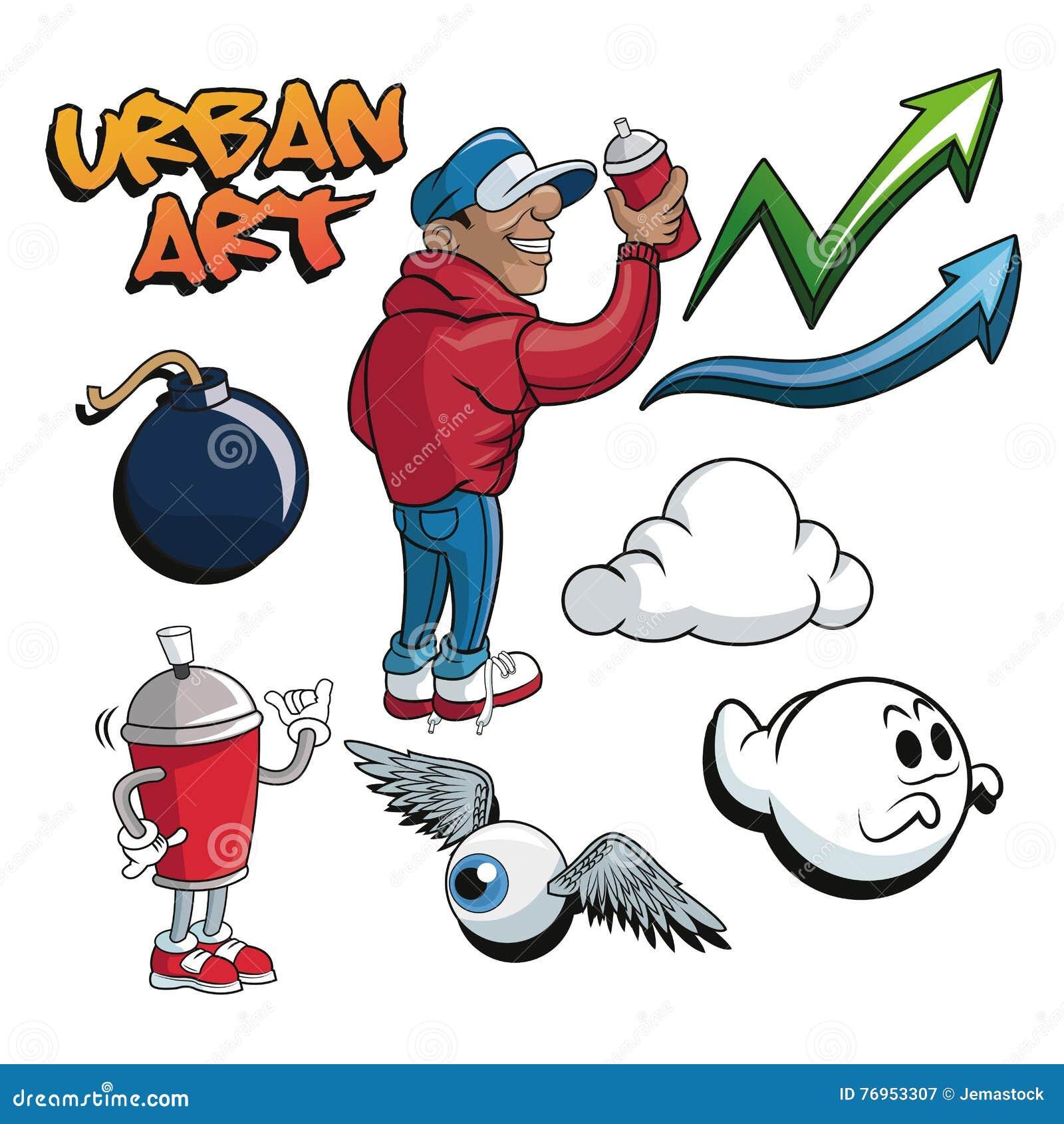 Urban Art And Graffiti Design Stock Vector