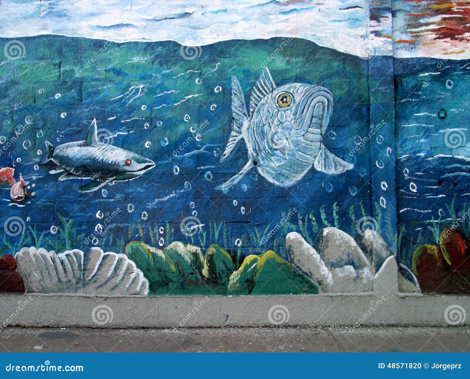 Urban ARt. Marine life.
