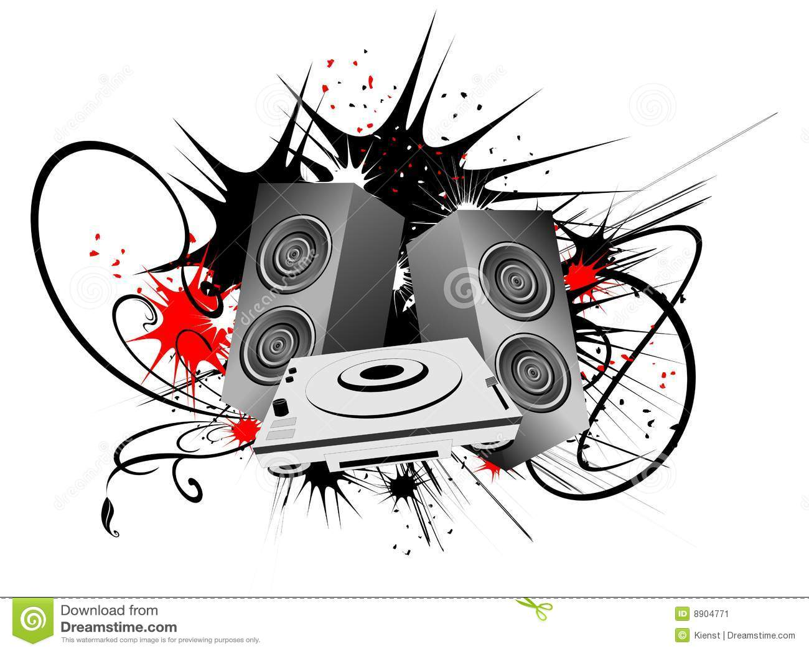 speakers art. royalty-free stock photo. download urban art with speaker speakers 6