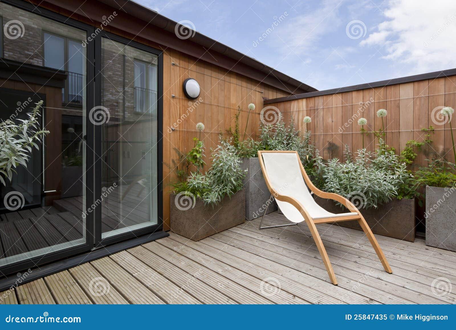 Urban balcony garden stock image Image of