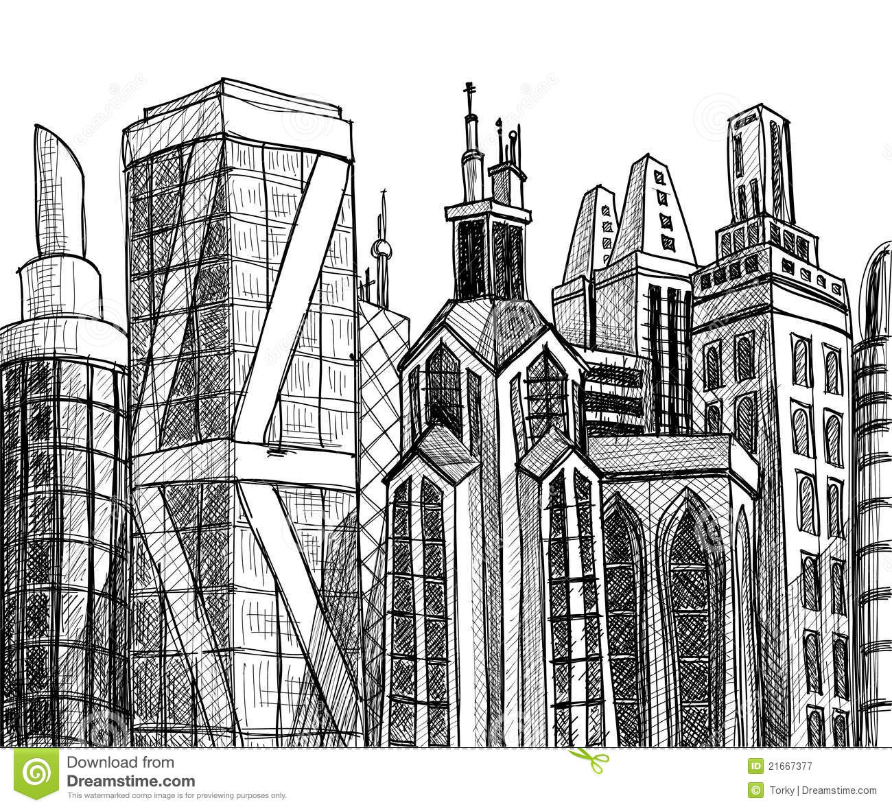 Urban buildings stock vector Image of perspective construction