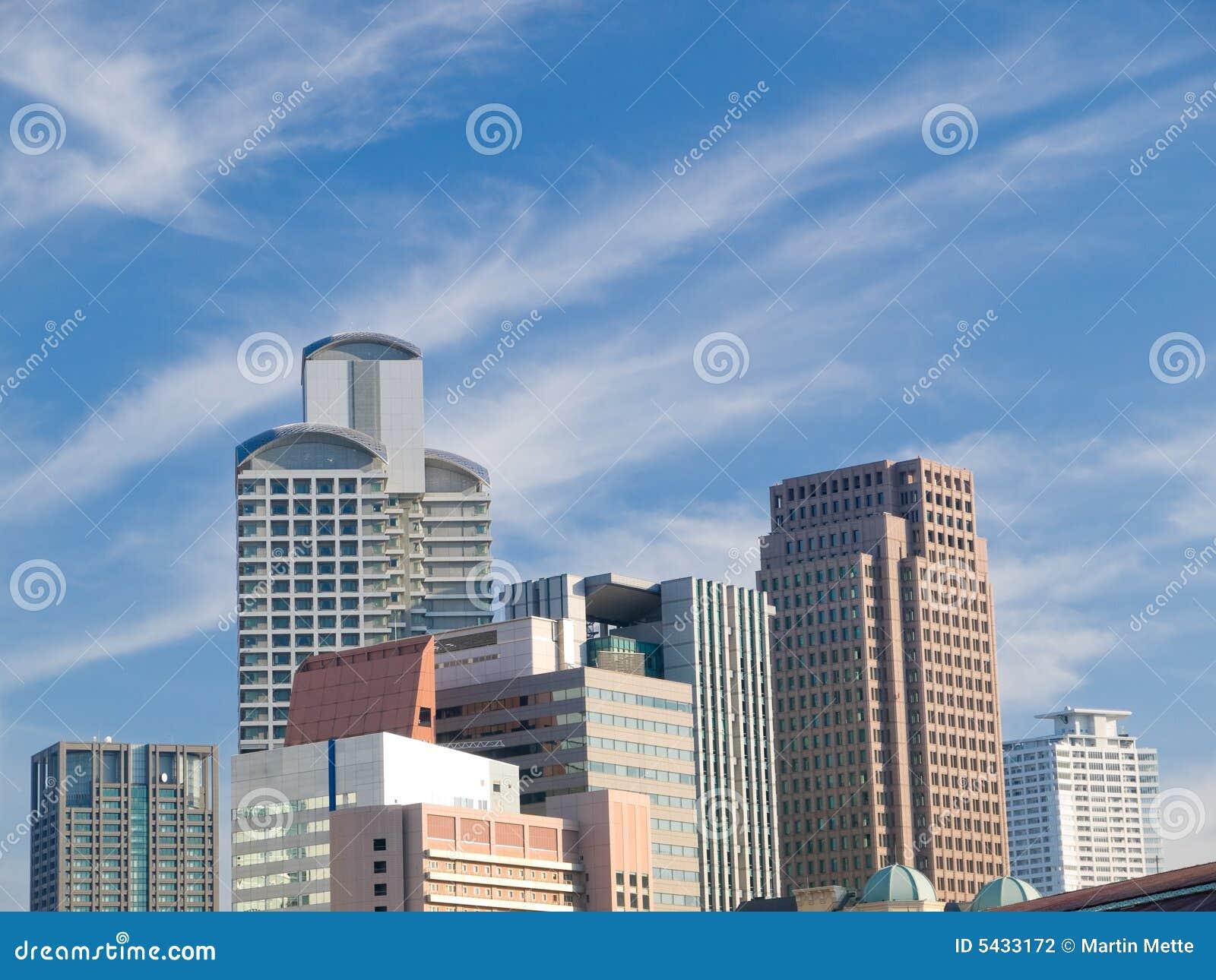 Urban city scene