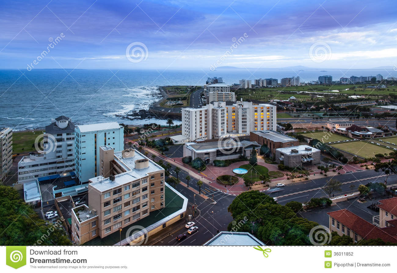 Urban City Skyline Cape Town South Africa Stock Photography Image 36011852