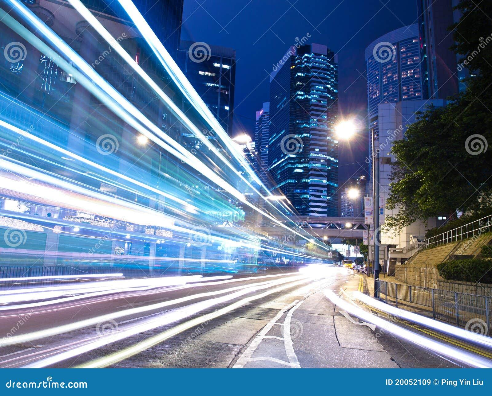 Urban City Traffic at Night