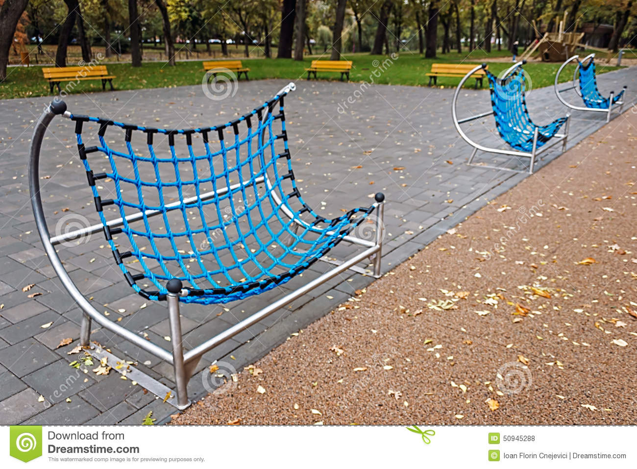 Urban Furniture For Children 5 Stock Photo Image Of Metal Nature