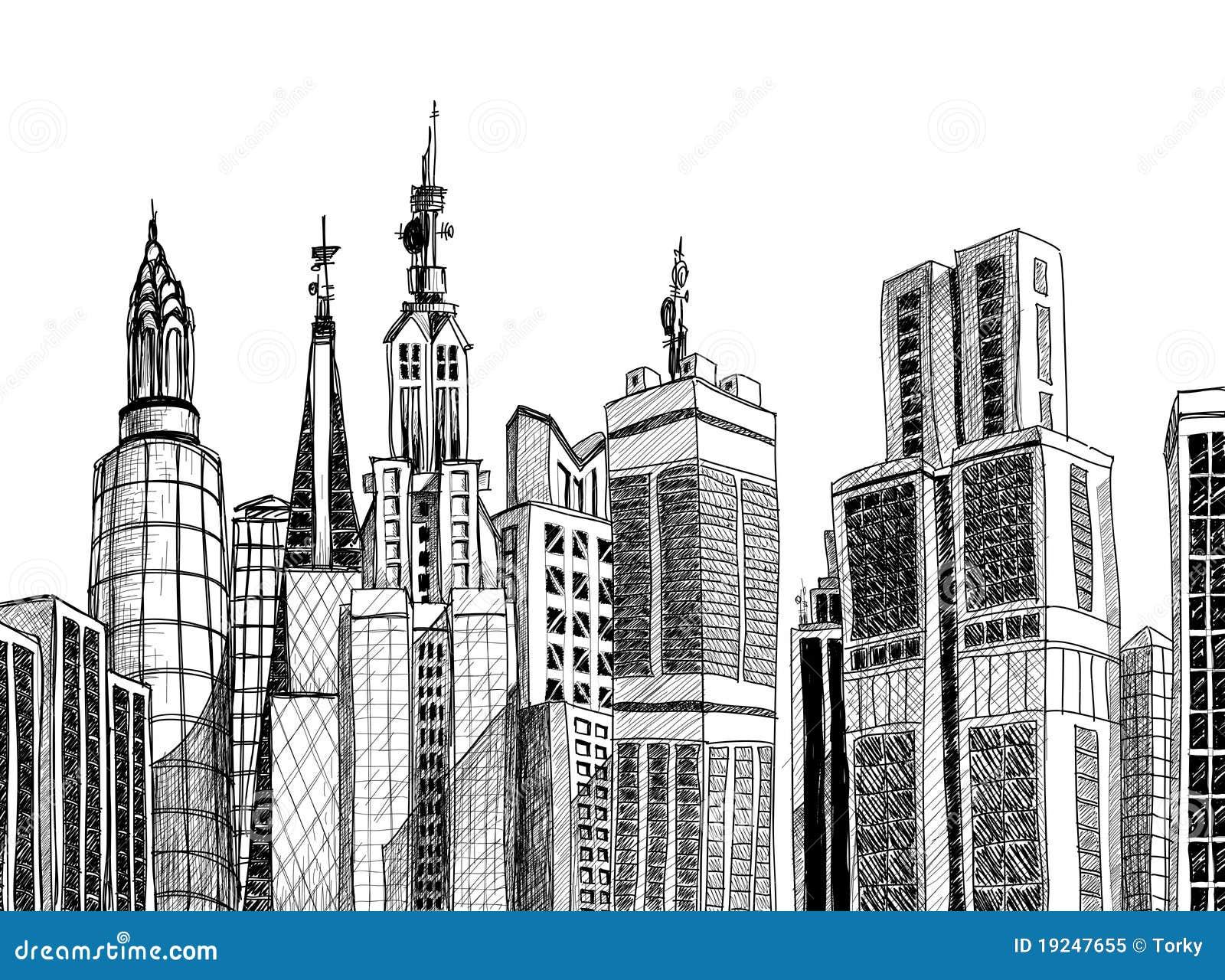 Urban Generic Architecture Sketch Stock Vector ...